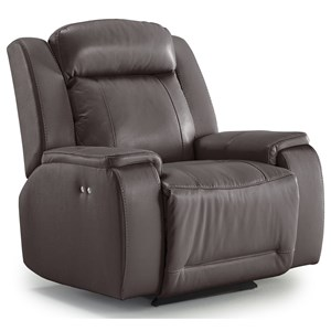 Casual Power Rocker Recliner with Memory Foam Cushions