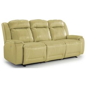 Casual Reclining Sofa with Memory Foam Cushions