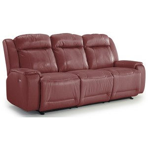 Casual Reclining Sofa with Memory Foam Cushions