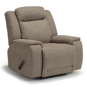 Casual Rocker Recliner with Memory Foam Cushions