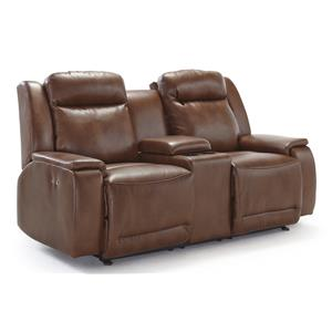 Space Saver Reclining Loveseat with Cupholder and Storage Console