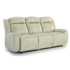 Casual Power Reclining Sofa with Memory Foam Cushions