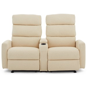 Rocking Reclining Loveseat with Slim Cupholder Storage Console