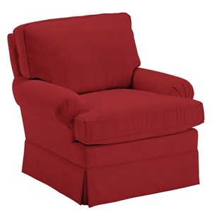 Kamilla Swivel Glider with Skirted Base