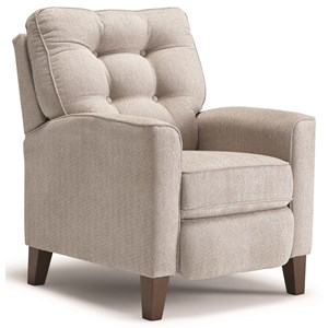 High Leg Recliner with Tufted Back