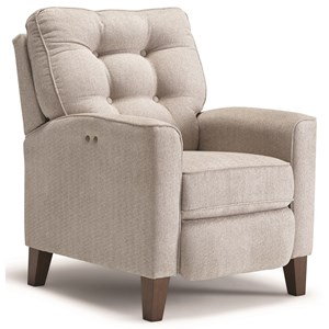 Power High Leg Recliner with Tufted Back