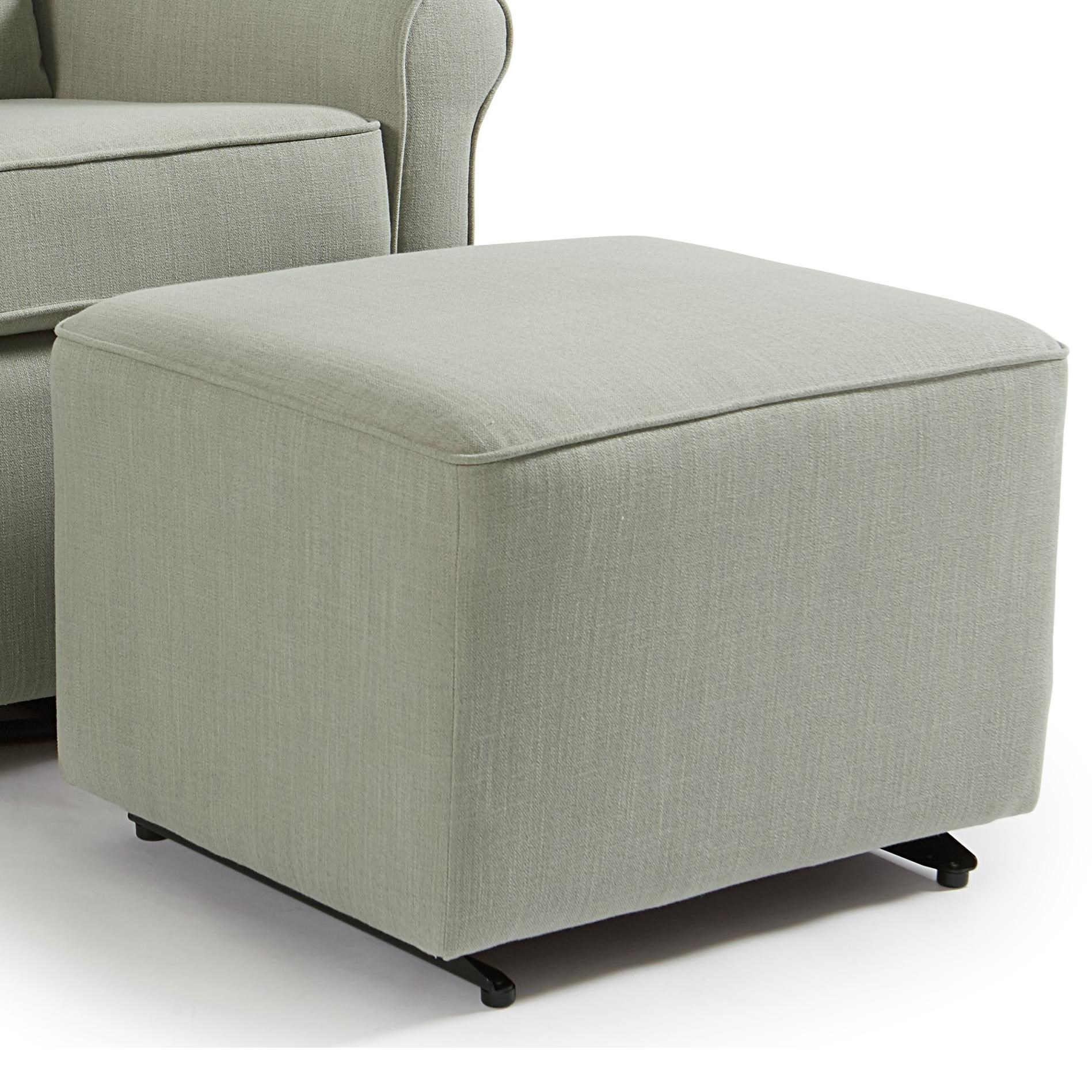 Kacey Ottoman W/ Glider Base by Best Home Furnishings at Novello Home Furnishings