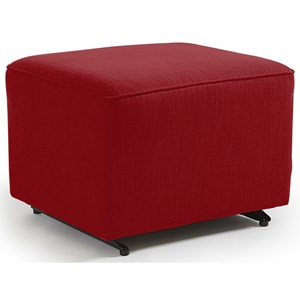 Ottoman with Glider Base