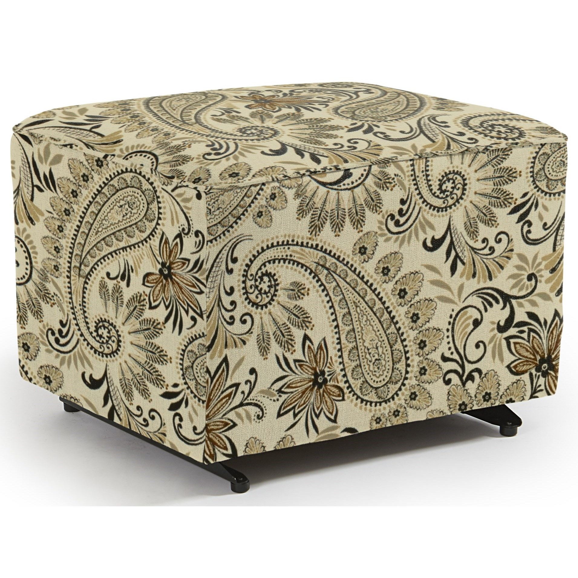 Kacey Ottoman W/ Glider Base by Best Home Furnishings at Lucas Furniture & Mattress