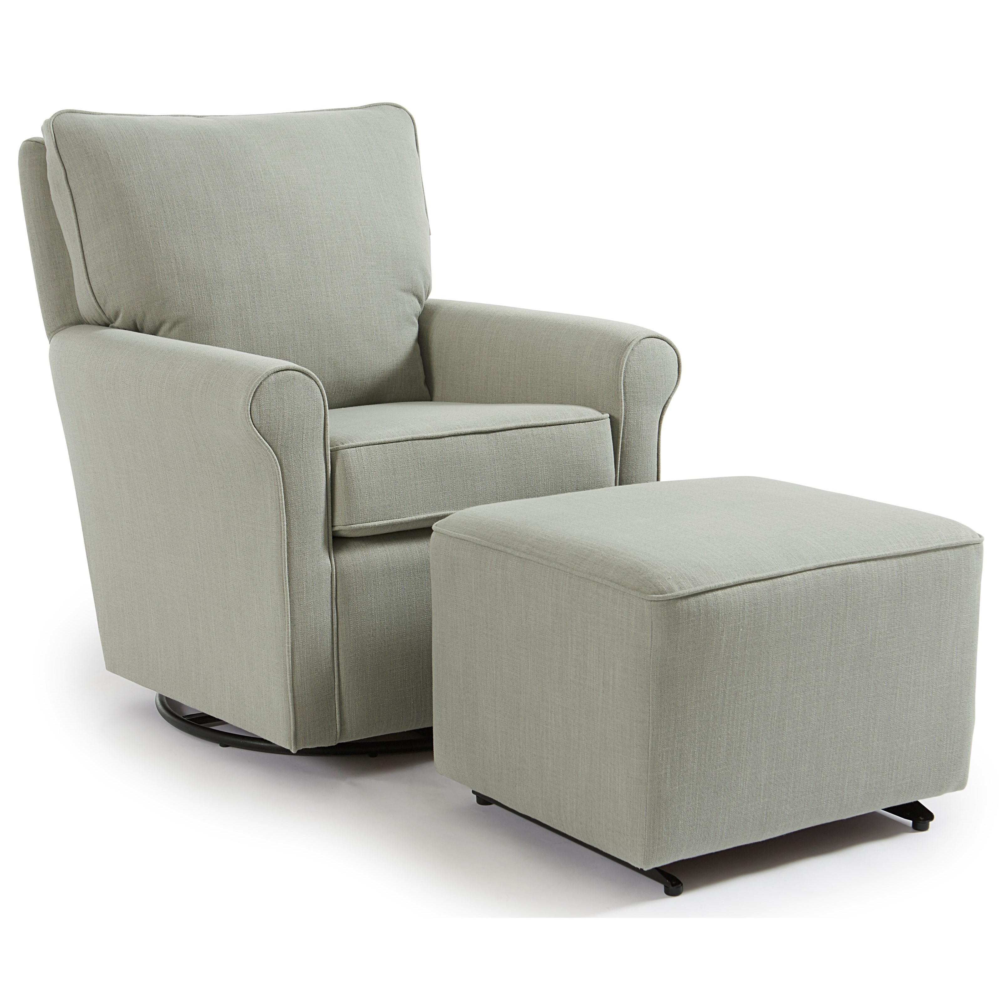 Kacey Swivel Glider Chair & Ottoman by Best Home Furnishings at Jacksonville Furniture Mart