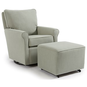Casual Swivel Glider Chair and Ottoman