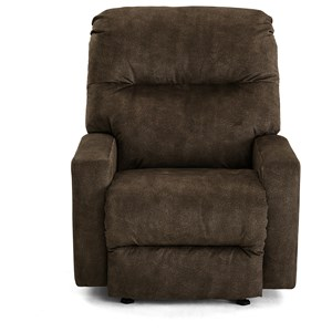 Contemporary Power Swivel Glide Recliner with Power Headrest