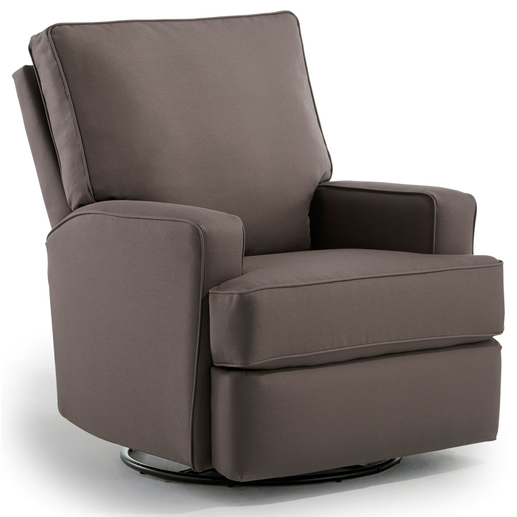 Kersey Swivel Glider Recliner w/ Inside Handle by Best Home Furnishings at Walker's Furniture
