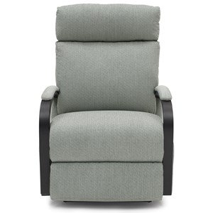Power Swivel Glider Recliner with Exposed Wood Arms