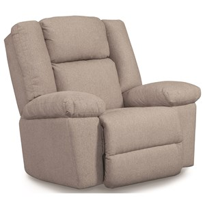 Casual Power Rocker Recliner with Power Headrest Lumbar and USB Port