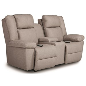 Power Tilt Head/Lumbar Space Saver Reclining Loveseat with Cupholder Storage and USB Charging Ports