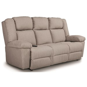 Power Tilt Head/Lumbar Space Saver Reclining Sofa with USB Charging Ports