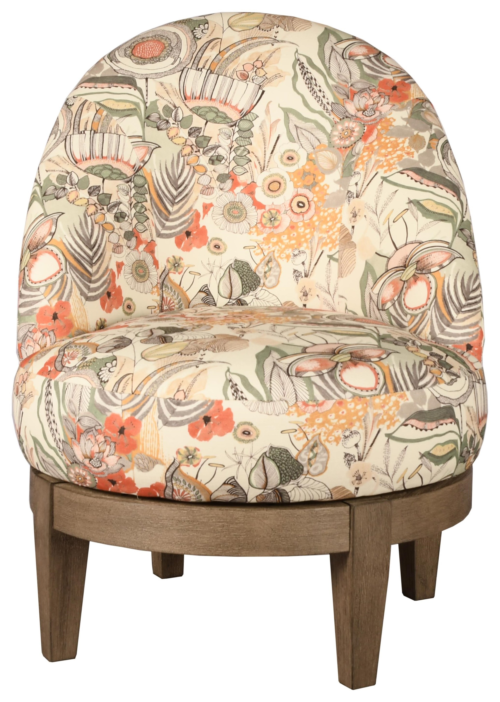 Loflin Swivel Chair by Bravo Furniture at Bennett's Furniture and Mattresses