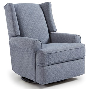 Wing Chair Style Swivel Glider Recliner
