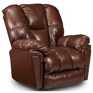 Casual Rocker Recliner with Full-Coverage Chaise Legrest