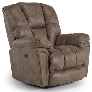 Casual Power Rocker Recliner with Full-Coverage Chaise Legrest