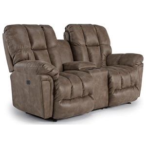 Best Home Furnishings Lucas Rocking Reclining Loveseat w/ Console
