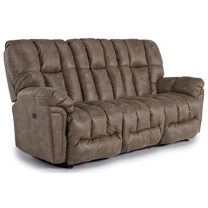 Casual Plush Reclining Sofa with Full-Coverage Chaise Legrest