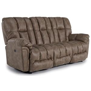 Casual Power Reclining Sofa with Power Tilt Headrest