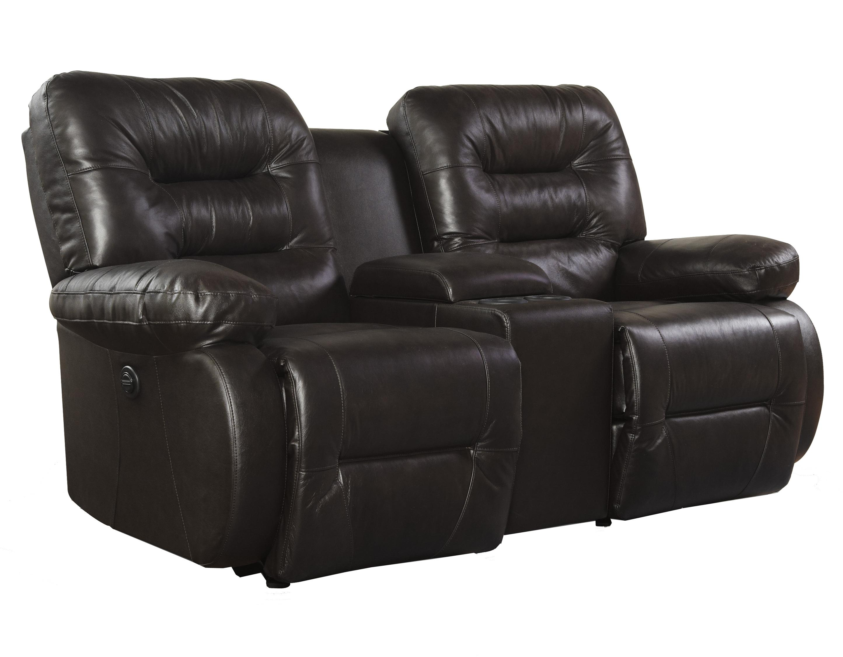 Maddox Console Space Saver Loveseat Chaise by Best Home Furnishings at Lapeer Furniture & Mattress Center