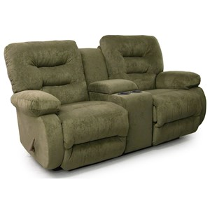 Power Rocker Console Loveseat with Pillow Arms