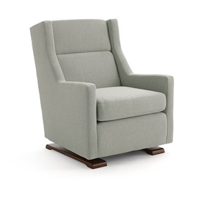 Casual Swivel Gliding Chair with Wood Runners