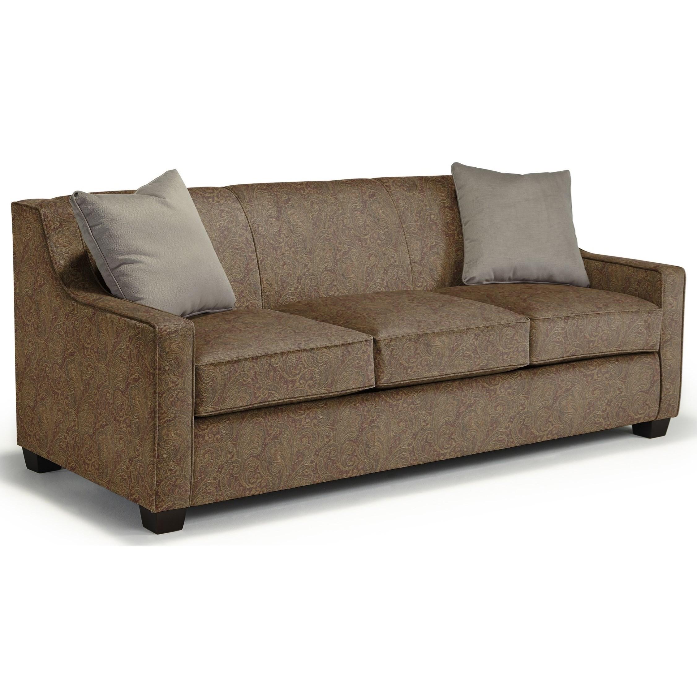 Marinette Queen Sleeper by Best Home Furnishings at Lucas Furniture & Mattress