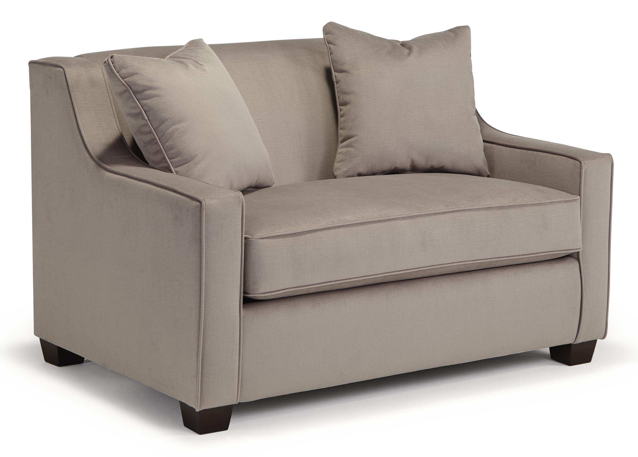 Marinette Twin Sleeper Chair w/ Memory Foam Mattress by Best Home Furnishings at Mueller Furniture