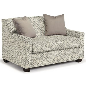 Twin-Size Sleeper Chair with Toss Pillows