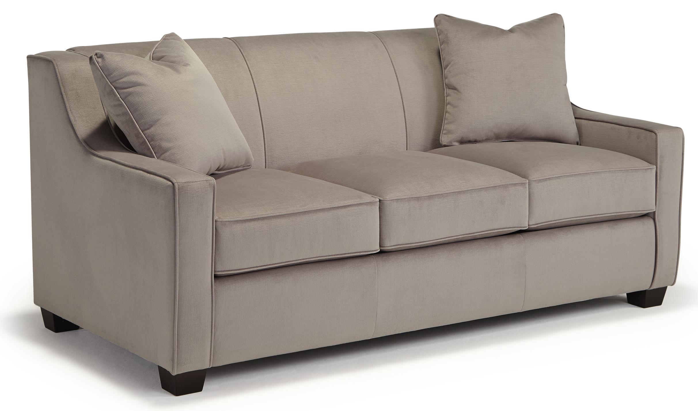 Marinette Full Size Sleeper Sofa w/ MemFoam Mattress by Best Home Furnishings at Mueller Furniture