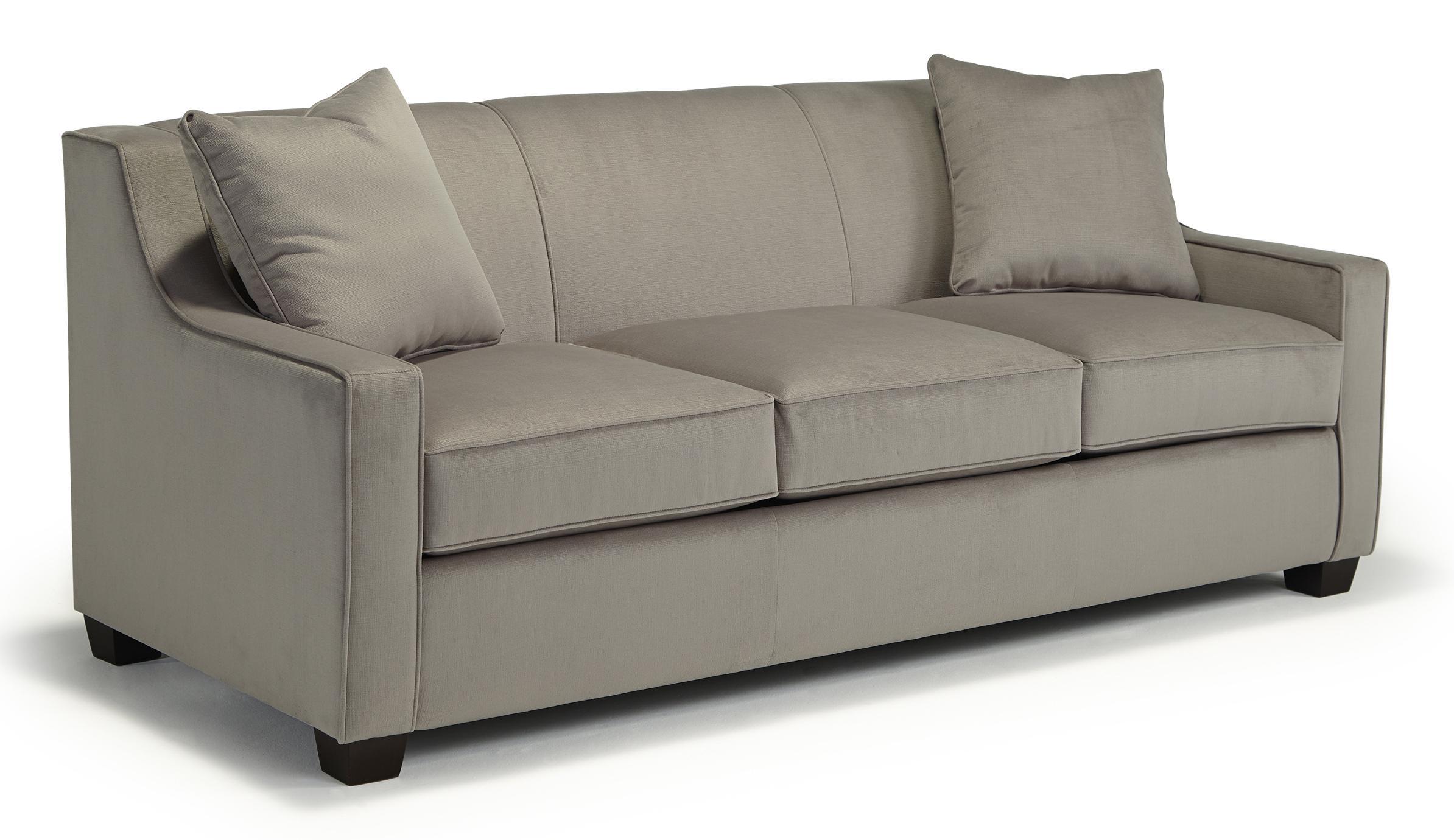 Marinette Queen Sleeper w/ MemoryFoam Mattress by Best Home Furnishings at Best Home Furnishings