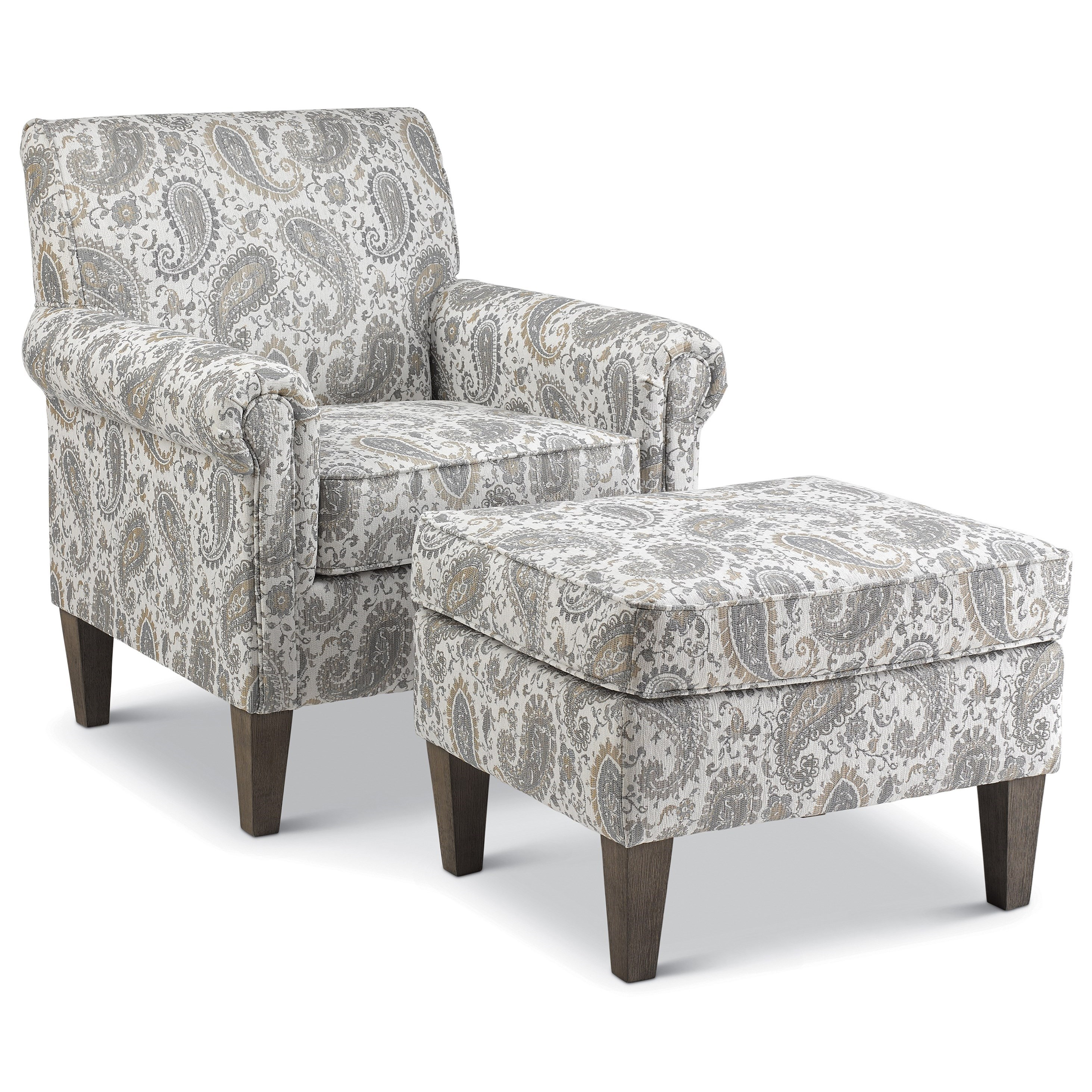 McBride Chair & Ottoman Set by Best Home Furnishings at Godby Home Furnishings
