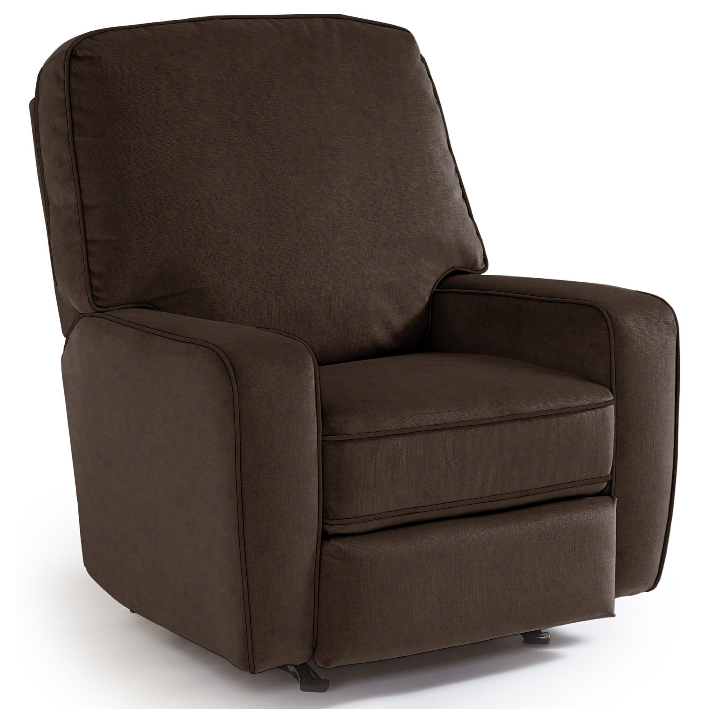 Medium Recliners Bilana Swivel Glider Recliner by Best Home Furnishings at Lucas Furniture & Mattress