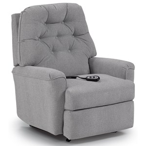 Best Home Furnishings Medium Recliners Cara Power Rocker Recliner