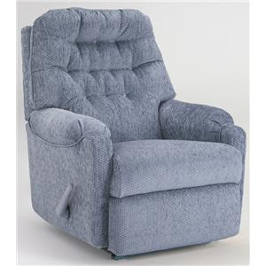 Best Home Furnishings Medium Recliners Power Rocker Recliner