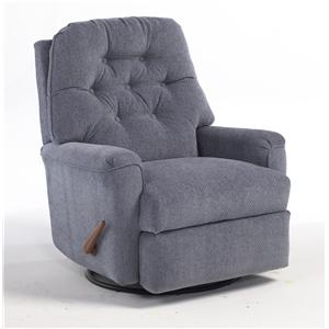 Best Home Furnishings Medium Recliners Cara Swivel Glider Recliner