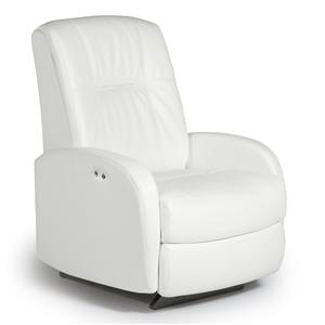 Best Home Furnishings Medium Recliners Ruddick Power Rocker Recliner