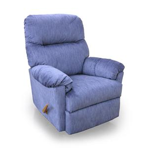 Best Home Furnishings Medium Recliners Balmore Swivel Rocker Recliner