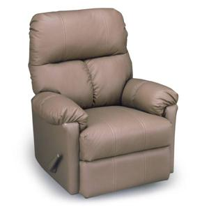 Best Home Furnishings Medium Recliners Picot Power Rocker Recliner