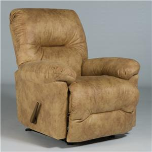 Best Home Furnishings Medium Recliners Rodney Swivel Rocker Recliner