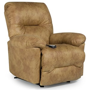 Best Home Furnishings Medium Recliners Rodney Power Rocker Recliner