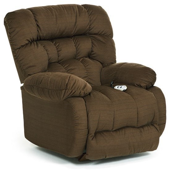 Medium Recliners Plusher Power Rocker Recliner by Best Home Furnishings at Suburban Furniture