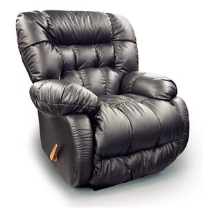 Best Home Furnishings Medium Recliners Plusher Power Rocker Recliner