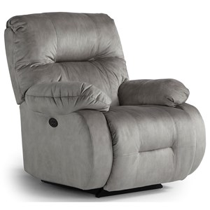 Best Home Furnishings Recliners - Medium Brinley Power Rock Recliner w/ Pwr Headrest