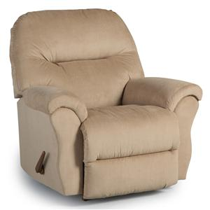 Best Home Furnishings Medium Recliners Bodie Rocker Recliner